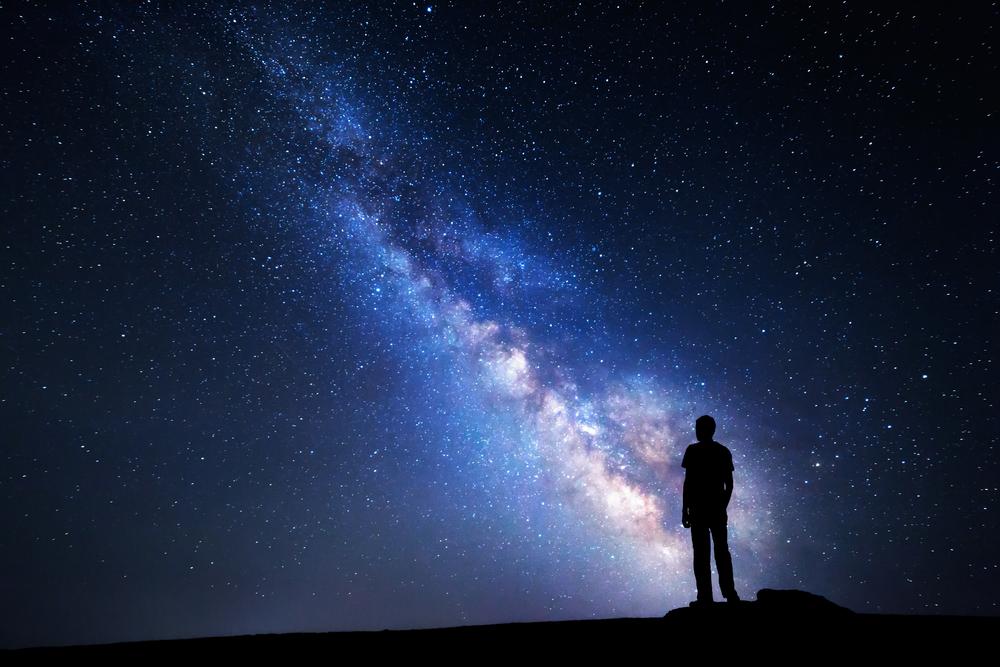 картинка космос и человек вертикально усаживают