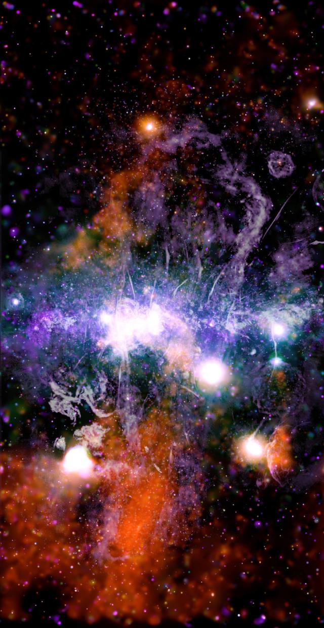 Миллиарды звезд: снимок центра нашей галактики от НАСА